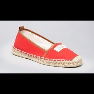 Kate Spade ♠️❤️♠️ Red and Tan Espadrille Flats